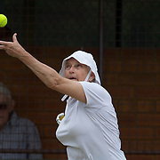 Mary Gordon, Australia, in action in the 70 Womens Singles Final during the 2009 ITF Super-Seniors World Team and Individual Championships at Perth, Western Australia, between 2-15th November, 2009
