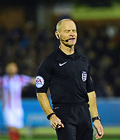 Referee Andy Woolmer<br /> <br /> Photographer Andrew Vaughan/CameraSport<br /> <br /> Emirates FA Cup First Round - AFC Wimbledon v Lincoln City - Saturday 4th November 2017 - Kingsmeadow Stadium - London<br />  <br /> World Copyright © 2017 CameraSport. All rights reserved. 43 Linden Ave. Countesthorpe. Leicester. England. LE8 5PG - Tel: +44 (0) 116 277 4147 - admin@camerasport.com - www.camerasport.com