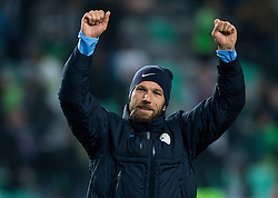 Bostjan Cesar of Slovenia celebrates after the football match between National teams of Slovenia and England in Round #3 of FIFA World Cup Russia 2018 Qualifier Group F, on October 11, 2016 in SRC Stozice, Ljubljana, Slovenia. Photo by Vid Ponikvar / Sportida