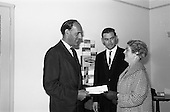 1963 - Presentation of £100 Kleenex prize at Goodbody's, Dun Laoghaire