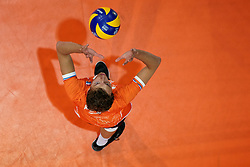 21-09-2019 NED: EC Volleyball 2019 Netherlands - Germany, Apeldoorn<br /> 1/8 final EC Volleyball / Wessel Keemink #2 of Netherlands