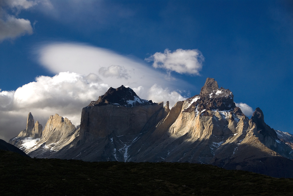 The granite towers of Torres Del Paine National Park, Patagonia, Chile.