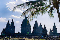 Java, Central Java. Prambanan is a ninth century Hindu temple compound in Central Java, Indonesia,