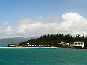 A view of the north end of Daydream Island from the water; Whitsunday Islands, Queensland, Australia