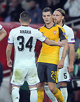 Football - 2016 / 2017 Champions League - Group A: Arsenal vs Basel<br /> <br /> Granit Xhaka of Arsenal who played against his brother Taulant, shake hands after the match at the Emirates Stadium<br /> <br /> Credit : Colorsport / Andrew Cowie