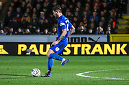 AFC Wimbledon midfielder Anthony Wordsworth (40) passing the ball during the The FA Cup match between AFC Wimbledon and West Ham United at the Cherry Red Records Stadium, Kingston, England on 26 January 2019.
