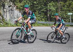 30.06.2019, Mondsee, AUT, Staatsmeisterschaft, Mondsee 5 Seen Radmarathon, im Bild v.l. Lukas Pöstlberger (AUT, Bora - Hansgrohe), Gregor Mühlberger (AUT, Bora - Hansgrohe) // during the Austrian State Championship 5 lakes cycling marathon. Mondsee, Austria on 2019/06/30. EXPA Pictures © 2019, PhotoCredit: EXPA/ Reinhard Eisenbauer