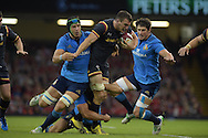 Sam Warburton of Wales barges through the Italian defence. Wales v Italy, RWC warm up international match at the Millennium Stadium in Cardiff ,South Wales on Saturday 5th Sept  2015. pic by Andrew Orchard, Andrew Orchard sports photography.