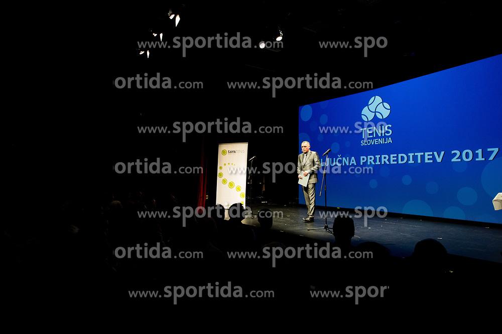 Gasper Bolhar during Slovenian Tennis personality of the year 2017 annual awards presented by Slovene Tennis Association Tenis Slovenija, on November 29, 2017 in Siti Teater, Ljubljana, Slovenia. Photo by Vid Ponikvar / Sportida