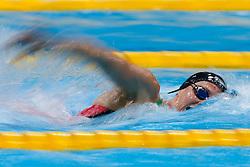 Jazz Carlin of Bath University wins the Womens 800m Freestyle Final - Photo mandatory by-line: Rogan Thomson/JMP - 07966 386802 - 16/04/2015 - SPORT - SWIMMING - The London Aquatics Centre, England - Day 3 - British Swimming Championships 2015.