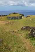 Orongo restored Village, Easter Island (Rapa Nui), Chile<br />