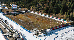 13.12.2015, Biathlonarena, AUT, IBU Weltmeisterschaft Biathlon, Hochfilzen, im Bild Blick auf den Schiessstand // the Shooting Range of the Biathlon Stadium during the Worldcup as Preview for the upcoming IBU Biathlon World Championships 2017 at the Biathlonarena, Hochfilzen, Austria on 2015/12/13. EXPA Pictures © 2015, PhotoCredit: EXPA/ JFK