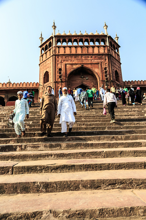 A staircase to Jama Masjid (Friday Mosque) in Delhi,  India.