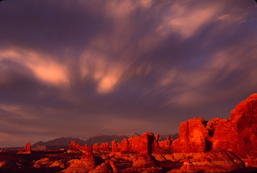 Sunset, Windows Section, Arches National Park