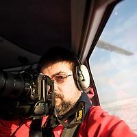 Self Portrait in the chopper