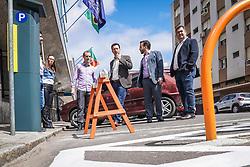 Porto Alegre, RS - 18/09/2018: Começou nesta terça-feira, 18, o trabalho de sinalização e instalação dos parquímetros da nova Área Azul de Porto Alegre. O ato de início ocorreu a partir das 11h, na rua Sete de Setembro, 555, Centro Histórico, e contou com a presença do prefeito Nelson Marchezan Júnior e do diretor-presidente da EPTC, Marcelo Soletti. Foto: Jefferson Bernardes/PMPA