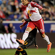 Sal Zizzo, New York Red Bulls, in action during the New York Red Bulls Vs Houston Dynamo, Major League Soccer regular season match at Red Bull Arena, Harrison, New Jersey. USA. 19th March 2016. Photo Tim Clayton