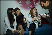 LILAH PARSONS; RACHEL GRAYER; ANGELA SCANLON, Julia Peyton-Jones, Hans Ulrich Obrist and Coach host the Serpentine Future Contemporaries Party. Serpentine Sackler Gallery. Kensington Gdns. London. 21 February 2015