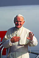 A 28. MG IMAGE OF:..Pope John Paul II .leaving Miami, Florida September 11, 1987  Photo by Dennis Brack