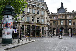Hotel du Louvre on the 43rd day of lockdown to prevent the spread of Covid-19. Paris, France on April 28, 2020. Photo by Vincent Gramain/ABACAPRESS.COM