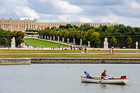 The Palace of Versailles, or simply Versailles, is a royal château close to Paris, France. The Gardens of Versailles with the Grand Canal.