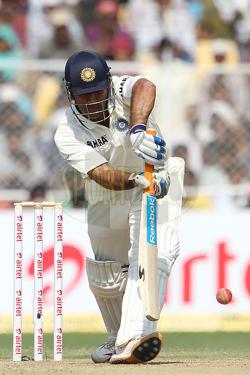 Mahendra Singh Dhoni - Captain of India during day two of the 1st Airtel Test Match between India and England held at the Sadar Patel Stadium in Ahmedabad, Gujarat, India on the 16th November 2012...Photo by Ron Gaunt/ BCCI/ SPORTZPICS..Use of this image is subject to the terms and conditions as outlined by the BCCI. These terms can be found by following this link:..http://www.sportzpics.co.za/image/I0000SoRagM2cIEc