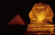 Sphinx near Pyramid