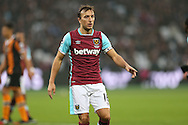 Mark Noble, West Ham United captain looking on. Premier league match, West Ham Utd v Hull city at the London Stadium, Queen Elizabeth Olympic Park in London on Saturday 17th December 2016.<br /> pic by John Patrick Fletcher, Andrew Orchard sports photography.