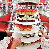 Cupcakes and other complimentary refreshments were popular during the grand opening of Target at the Capitola Mall in Capitola, California.<br /> Photo by Shmuel Thaler <br /> shmuel_thaler@yahoo.com www.shmuelthaler.com