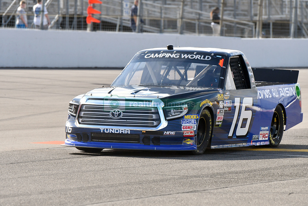 June 22, 2018 - Madison, Illinois, U.S. - MADISON, IL - JUNE 22:  Brett Moffitt (16) driving a Toyota for AISIN Group warms up before  the Camping World Truck Series - Eaton 200 on June 22, 2018, at Gateway Motorsports Park, Madison, IL.   (Photo by Keith Gillett/Icon Sportswire) (Credit Image: © Keith Gillett/Icon SMI via ZUMA Press)