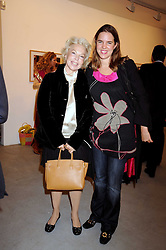 Left to right,LOLICIA AITKEN and her daughter VICTORIA AITKEN at an exhibition in aid of the Turquoise Mountain Jewellery Programme at the Maddox Gallery, 52 Brook's Mews, London W1 on 9th September 2008.