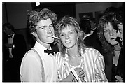 william bidwell; carey burrowes, Tiffany Streeter's 18th. Sotheby's. 6 Spetember 1983,<br /> <br /> SUPPLIED FOR ONE-TIME USE ONLY> DO NOT ARCHIVE. © Copyright Photograph by Dafydd Jones 248 Clapham Rd.  London SW90PZ Tel 020 7820 0771 www.dafjones.com