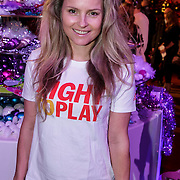 NLD/Hilversum/20141209 - Sky Radio Christmas Tree for Charity 2014, Fatima Moreiro de Melo voor Right To Play UK