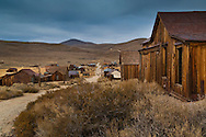 Looking down Green Street, Bodie State Historic Park,  Mono County, California