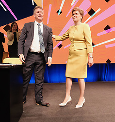 SNP Spring Conference, Sunday 28th April 2019<br /> <br /> Pictured: First Minister Nicola Sturgeon and Keith Brown MSP<br /> <br /> Alex Todd   Edinburgh Elite media