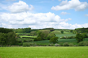 Howardian Hills AONB landscape near the village of Skewsby in North Yorkshire, United Kingdom on 18th May 2017