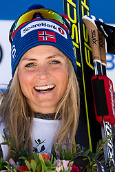 March 10, 2019 - Oslo, NORWAY - 190310 Therese Johaug of Norway celebrates after the women's 30 km classic technique mass start during the FIS World Cup on March 10, 2019 in Oslo..Photo: Jon Olav Nesvold / BILDBYRÃ…N / kod JE / 160424 (Credit Image: © Jon Olav Nesvold/Bildbyran via ZUMA Press)