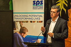Pictured: Scottish Prison Service chief executive Colin McConnell<br /> A new booklet was created by a group of prisoners after a Meet the Police event revealed many prisoners' children thought the police had taken their parent from them. The leaflet was launched by Mark McDonald, MSP, Minister for Childcare and Early Years at Saughton Prison, Edinburgh. The minister was joined by Scottish Prison Service chief executive Colin McConnell, PC  Tracey Gunn, Prison Link Officer Police Scotland, Nicola Ceesay, HMP Edinburgh Visitot Centre  Richard Thomas, Superintendent Police Scotland and other senior police officers<br /> <br /> <br /> Ger Harley | EEm 22 August 2016