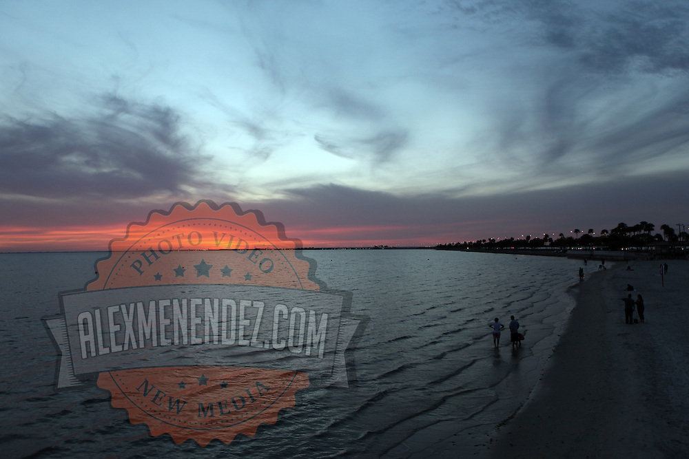 General view of the beach at sunset along the Courtney Campbell Causeway in Tampa, Florida. (AP Photo/Alex Menendez) Florida scenic highway photos from the State of Florida. Florida scenic images of the Sunshine State.
