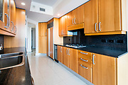 Kitchen unit in the interior of a condominium Photographed in Las Vegas, Nevada USA