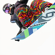 French National Snowboard Team member Sophie Rodriguez competes in the half pipe during finals at the 2009 LG Snowboard FIS World Cup at Cypress Mountain, British Columbia, on February 16th, 2009. Rodriguez finished 5th in the field of 45.