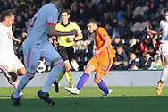 Elayis Tavsan of Netherlands (13) picks a pass during the UEFA European Under 17 Championship 2018 match between Netherlands and Spain at the Pirelli Stadium, Burton upon Trent, England on 8 May 2018. Picture by Mick Haynes.