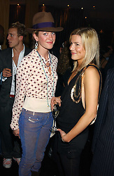 Left to right, LADY ROSE VAN CUTSEM and ALEX GORE BROWNE at a party to celebrate the publication of Tatler's Little Black Book 2005 held at the Baglioni Hotel, 60 Hyde Park Gate, London SW7 on 9th November 2005.<br /><br />NON EXCLUSIVE - WORLD RIGHTS