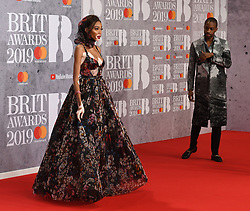 February 21, 2019 - London, London, United Kingdom - Image licensed to i-Images Picture Agency. 20/02/2019. London, United Kingdom. Winnie Harlow at the Brit Awards in London. (Credit Image: © i-Images via ZUMA Press)
