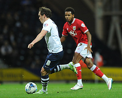 Neil Kilkenny of Preston North End in action against his former tram Bristol City - Mandatory byline: Dougie Allward/JMP - 07966386802 - 15/09/2015 - FOOTBALL - Deepdale Stadium -Preston,England - Bristol City v Preston North End - Sky Bet Championship