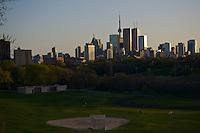 Toronto skyline from Riverdale park.