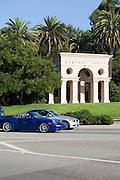 Newport Coast Monument On PCH In Newport Beach California