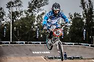 #80 (DIAZ Mariana) ARG at the 2014 UCI BMX Supercross World Cup in Santiago Del Estero, Argentina.