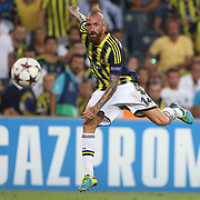 Fenerbahce's Raul Meireles during the UEFA Champions League Play-Offs First leg soccer match Fenerbahce between Arsenal at Sukru Saracaoglu stadium in Istanbul Turkey on Wednesday 21 August 2013. Photo by TURKPIX