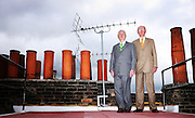 Gilbert and George artists, photographed in their London home